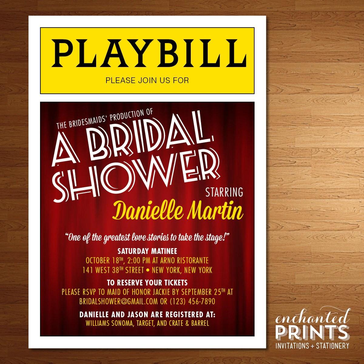 Bridal Shower Invitations Nyc