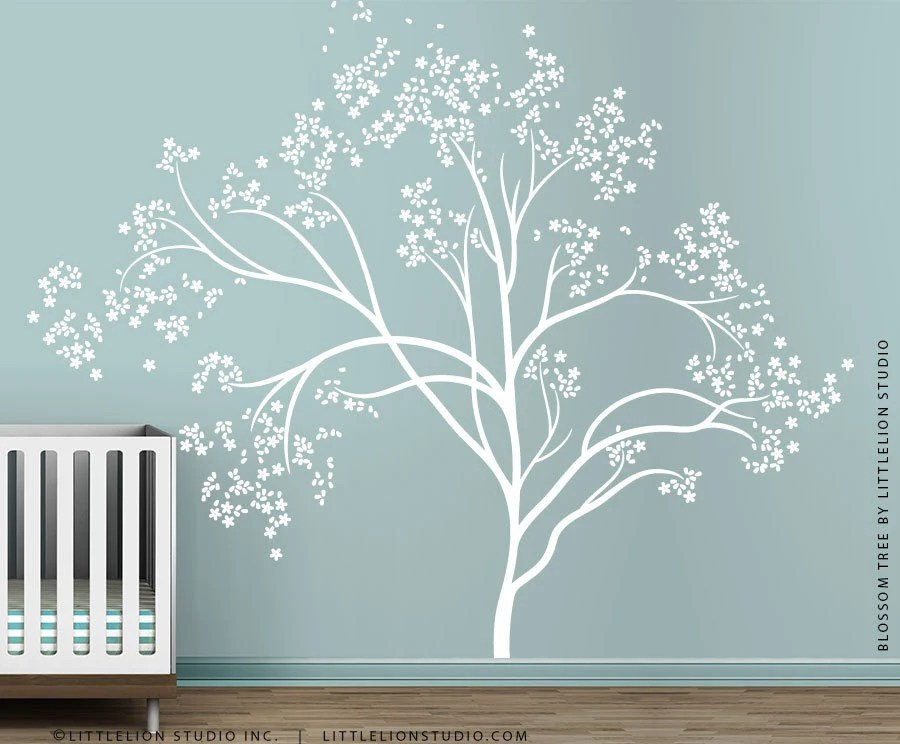 White Blossom Tree Extra Large Wall Decal Wall Decal By