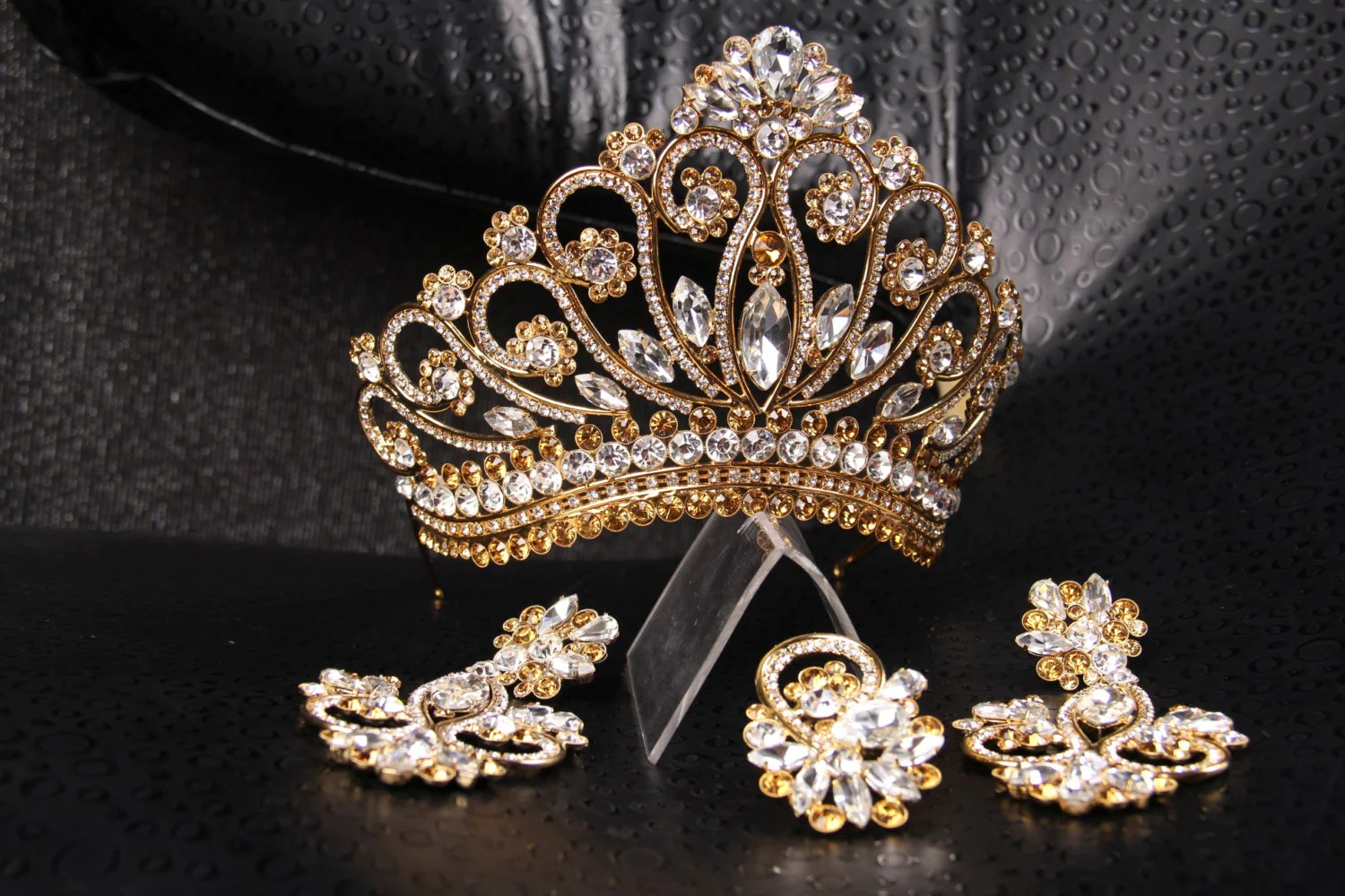 Big Tiaras And Crowns Interesting Luxury Aaa Cubic Zircon