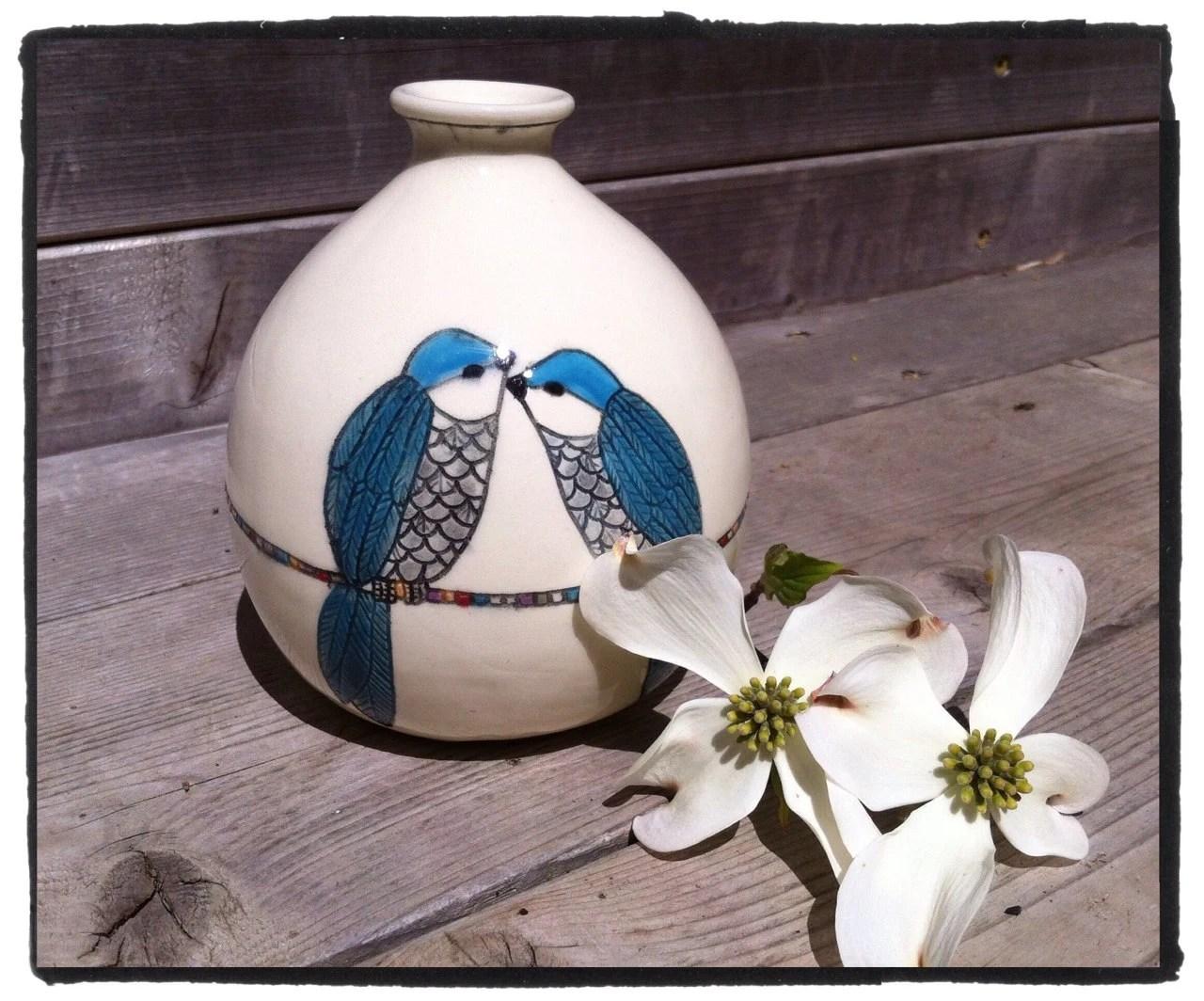 2 Birds Vase - littleflowerdesigns