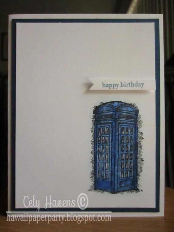 Tardis Birthday Printable