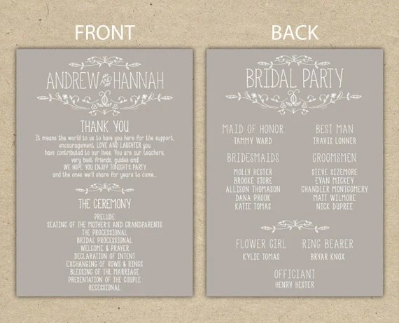 Printable Reception Invitations