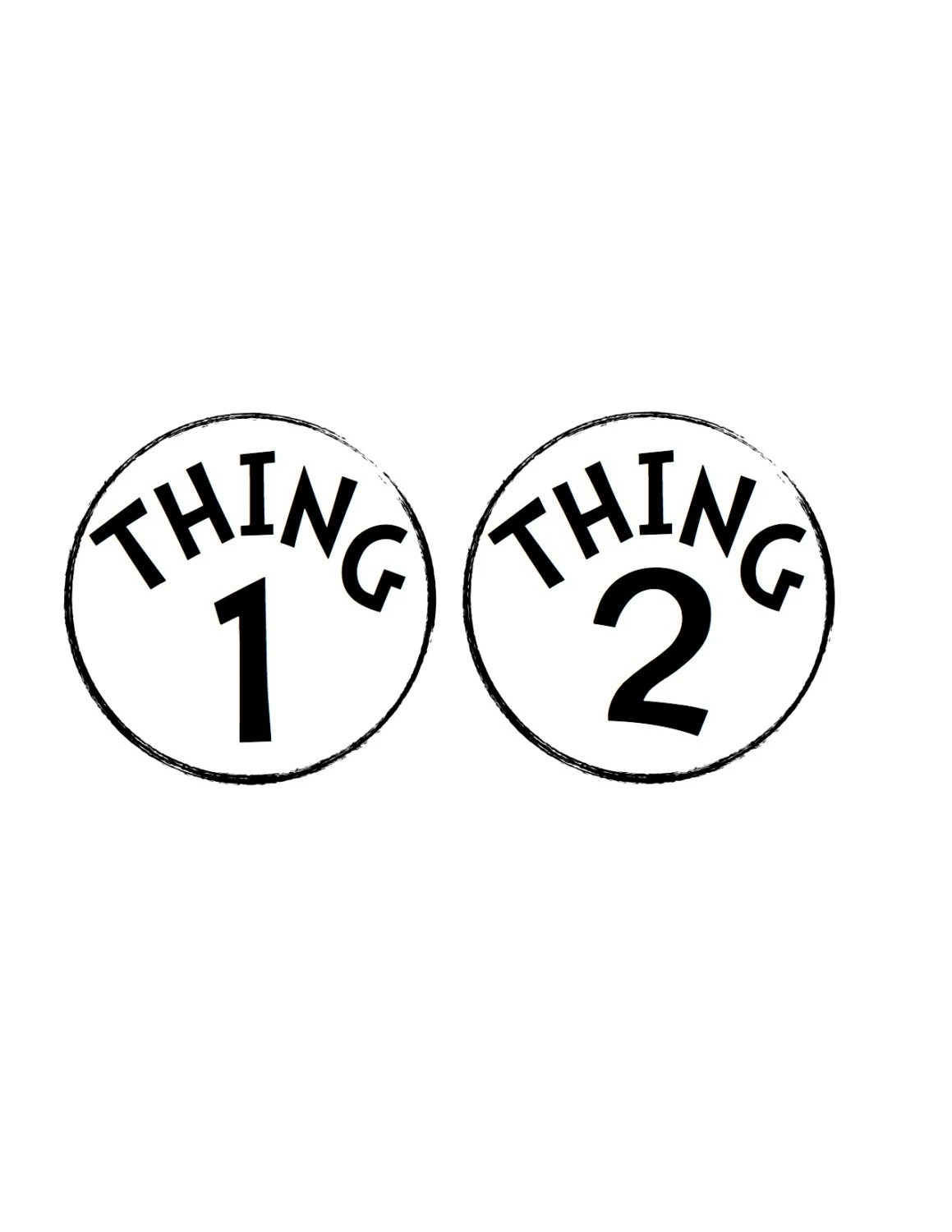 Thing 1 And Thing 2 Stickers Dr Seuss Theme By