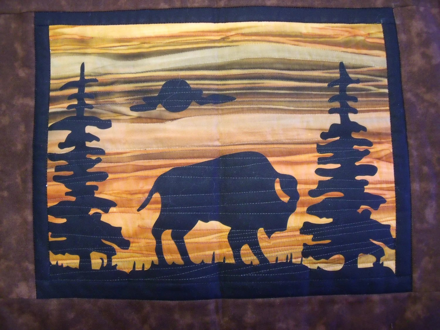 Items Similar To BISON Quilt KIT With Pre Cut Fabric Die