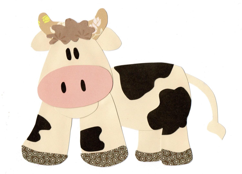Applique Template Farm Animal Cow