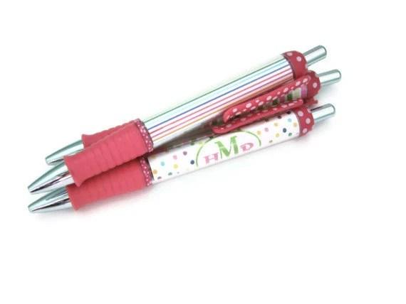 Custom Personalized Monogram Name Pen - Pink - ColorInkStudio