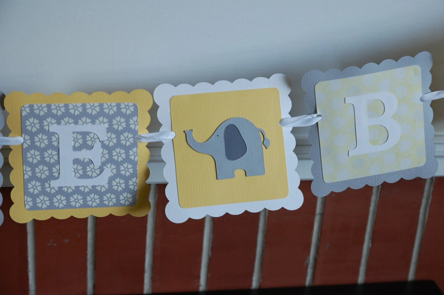 Yellow Elephant Baby Shower Decorations