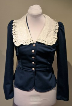 Vintage 1970s does 40s Navy Blue Jacket