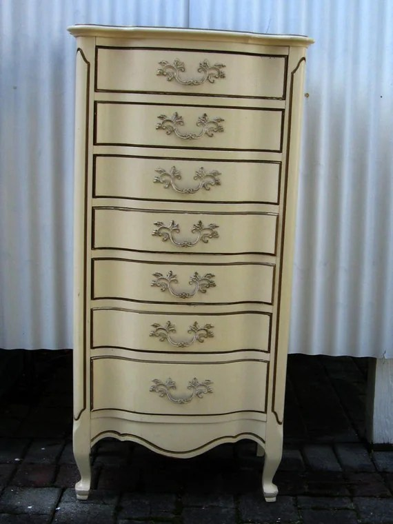 Tall White End Table