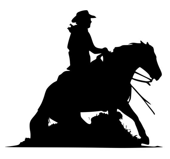 Siloete Western Rider