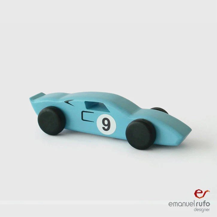 Wooden Toy Wooden Car Classic Race Car Ford GT40