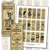 halloween witch potion labels