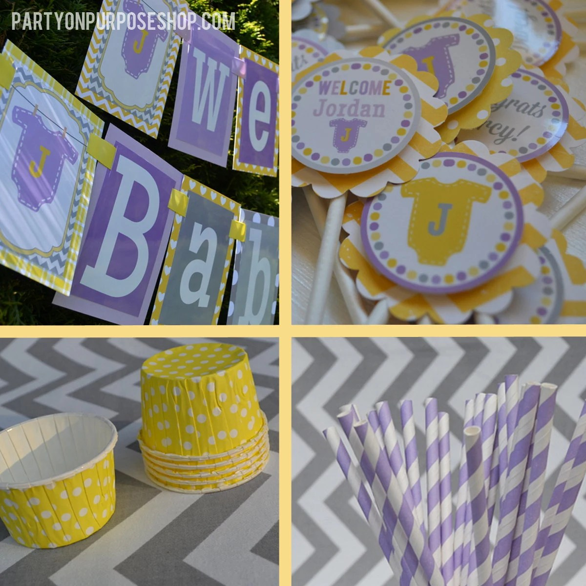 And Lavender Yellow Baby Shower
