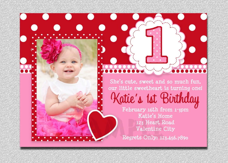 Custom Invitations 1st Birthday