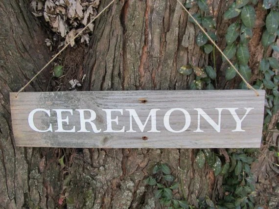 ceremony sign etsy