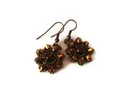 Swarovsky  Crystal Earrings,Crystal and Beads Knitted Earrings - FIGENTAKI