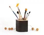 love, Heart, Organizer, woodwork, pencil holder, wooden organizer, Office organizer, Desk Organizer, Desk Storage,  Pen holder,organize - TreeSky