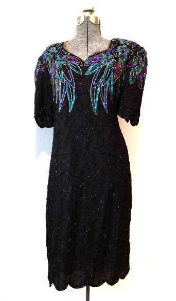 Sequined Plus Size Dress - Teal, Blue Purple, Gold, Black Sparkle