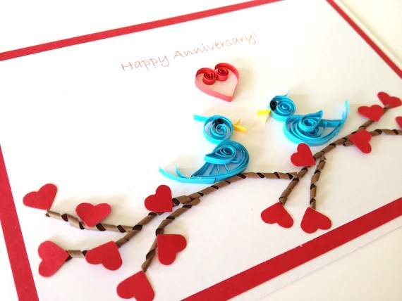 Items Similar To Wedding Anniversary Card Handmade