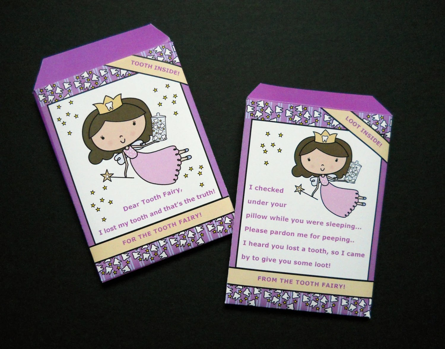 Tooth Fairy Envelopes For Girl