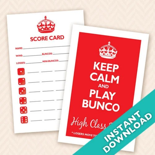Printable Bunco Scorecard...