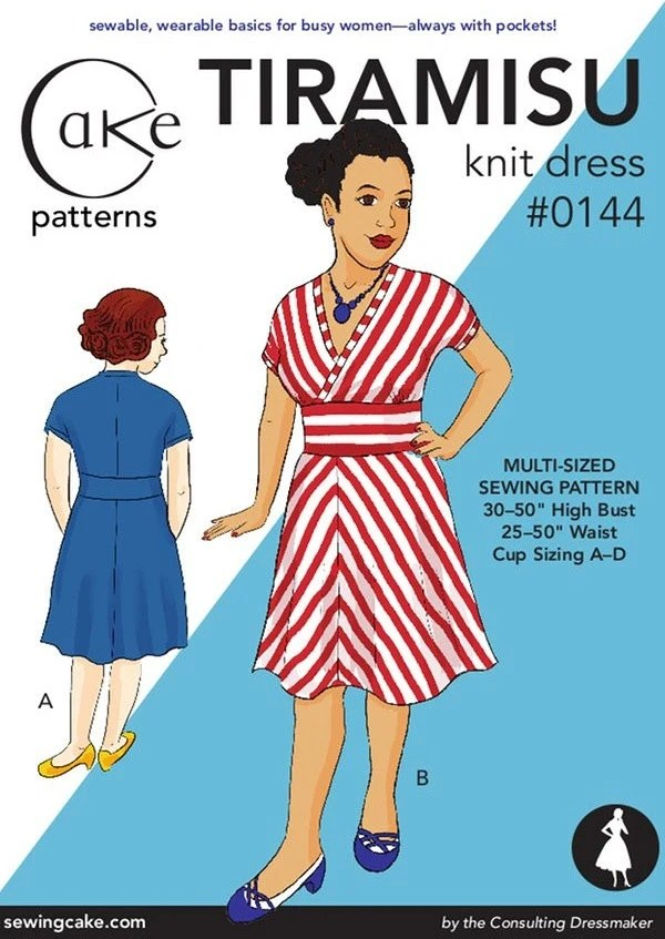 "Tiramisu Knit Dress from Cake Patterns- Multi-Size 30""-50"" high bust, 25""-50"" waist Second Edition"