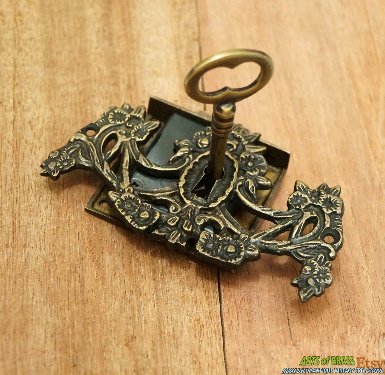 Victorian Skeleton Key And Lock