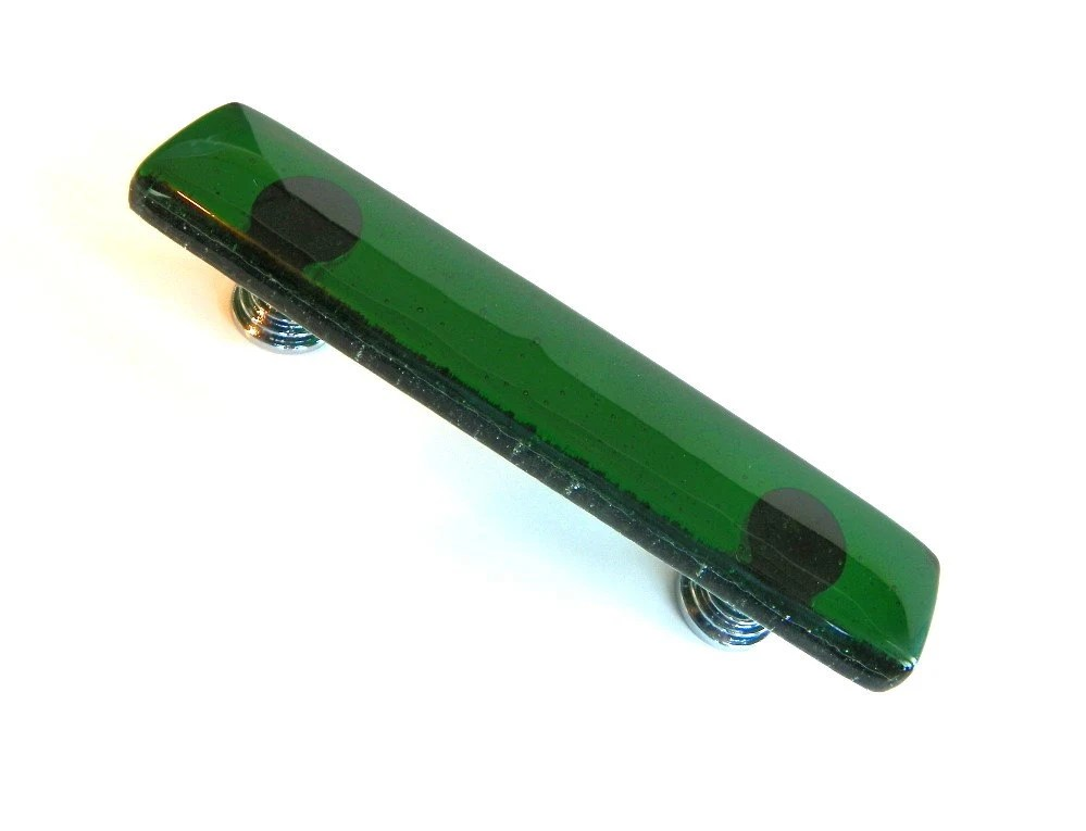 Emerald Green Fused Glass Drawer Pull Or By UneekGlassFusions