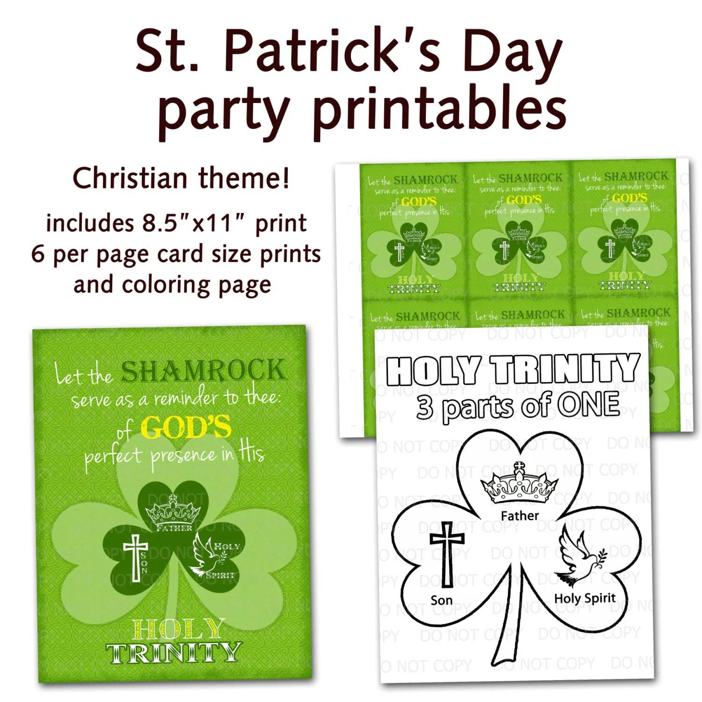 Printable Diy St Patrick S Day Christian Religious Party