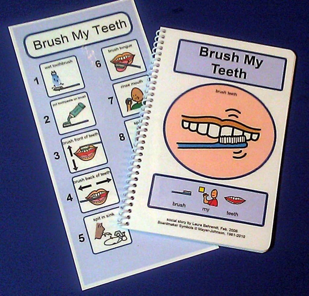 Brush My Teeth Pecs Autism Social Skills Story By Theautismshop