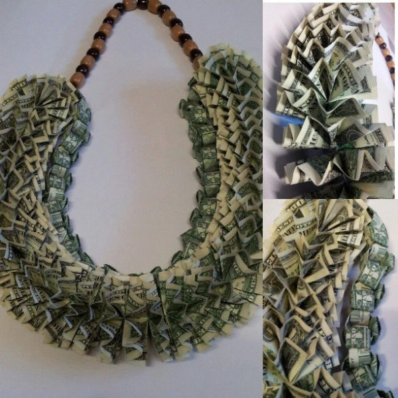 Items similar to Double Layer Hawaiian Style Money Lei on Etsy