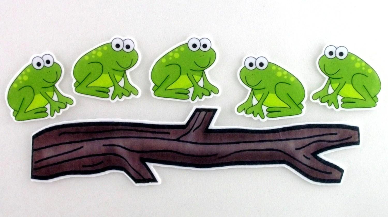 Five Little Speckled Frogs Felt Board Activity Set By Bymaree