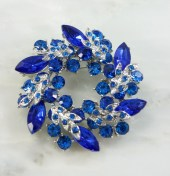 Teal Blue Brooch Pin. Teal Royal Blue Broach Jewelry - CacheAvenue