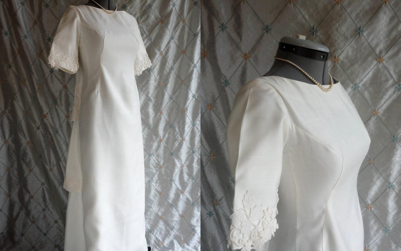 Wedding Dress // Vintage 1960s White Linen By ChiffonLounge