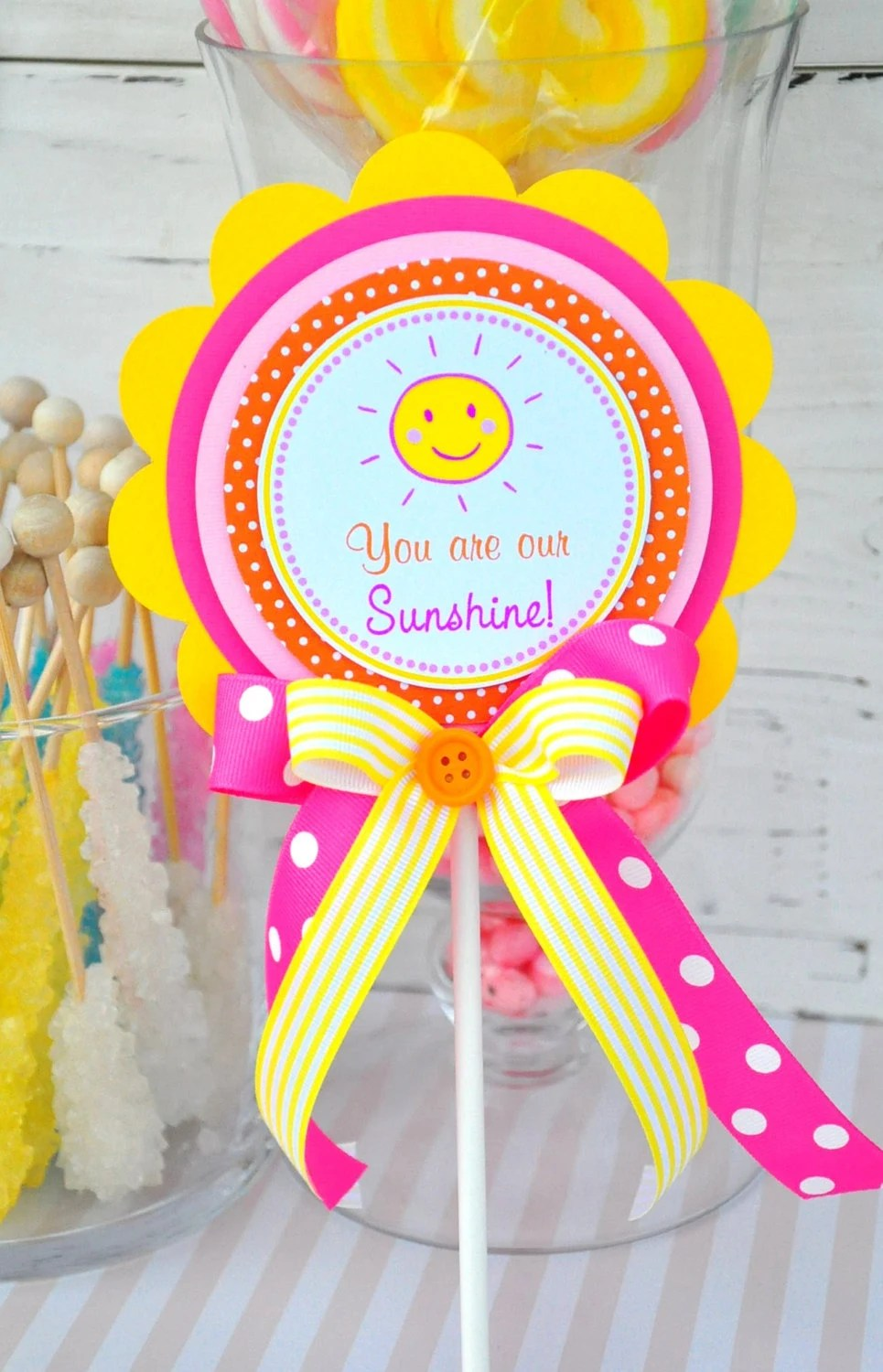 You Are My Sunshine Cake Topper Smash Cake By Thepaperkingdom