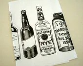 Lint-Free Cotton Tea Towel /// WHISKEY REBELLION (White) - openeyespress