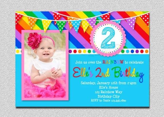 Birthday Invitations Rainbow