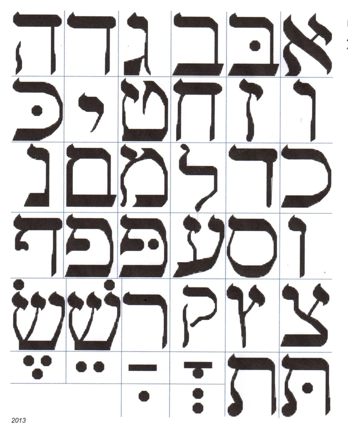 Hebrew Alphabet Or Lettering Cross Stitch Pattern By Gotttwo
