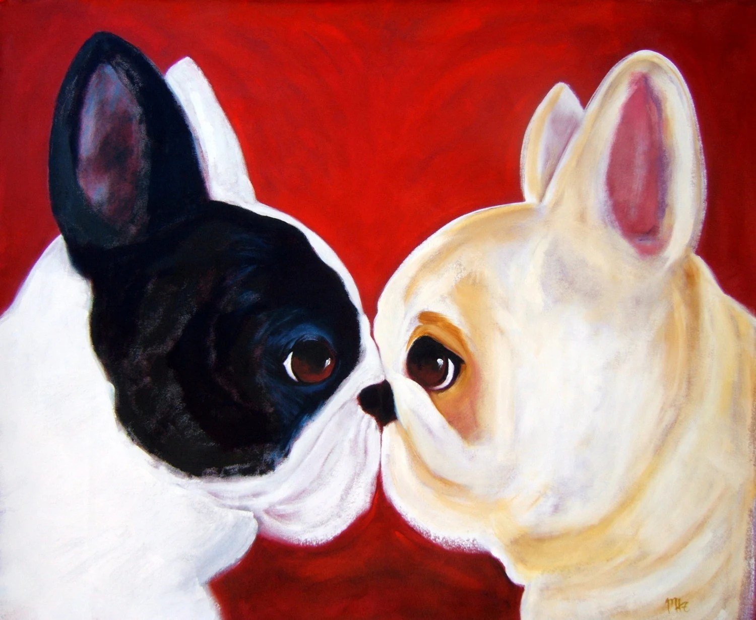 "French Bulldog Art Print / ""Big Attitude"" / by Original Mike Holzer"