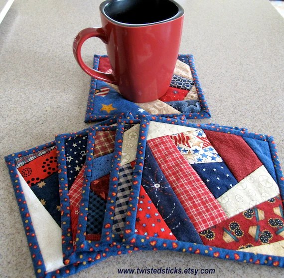 Coaster Patterns Quilted Rag