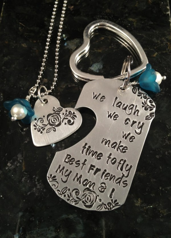 Mother's Day keychain & necklace set - mother - daughter ...