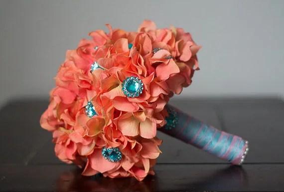 Weddingthemesrus: Coral And Teal Wedding Theme
