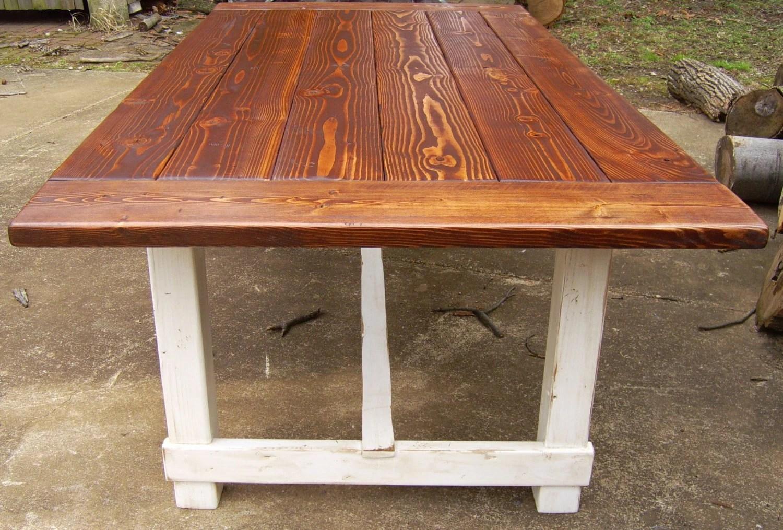 Harford Trestle Dining Table Farmhouse Reclaimed Wood