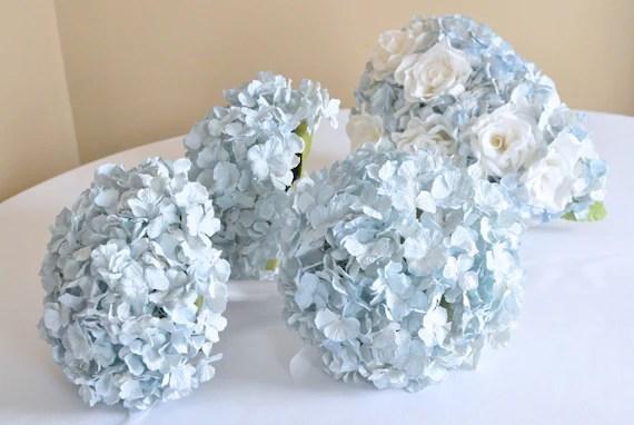 Items Similar To Light Blue Paper Hydrangea Bouquet, 100