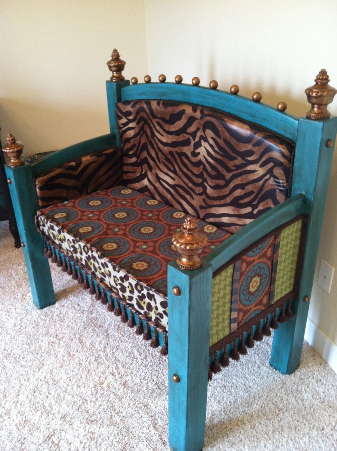 Items Similar To Whimsical Headboard Footboard Bench