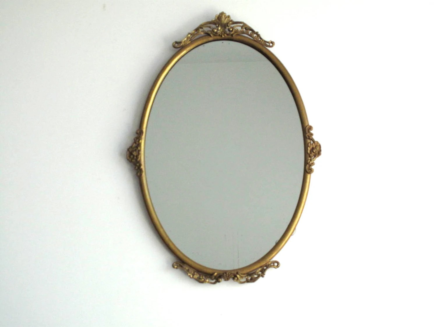 Vintage Gold Wall Mirror With Ornate Metal By SnapshotVintage