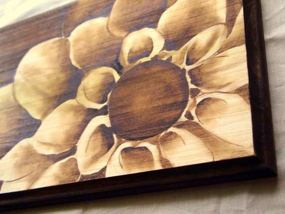 Items Similar To Wood Stain Shading Artwork Wooden Plaque
