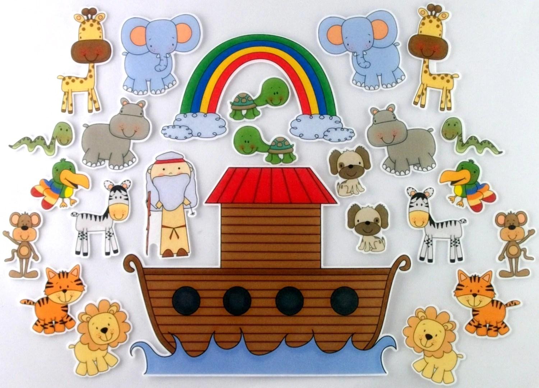 Noah S Ark Felt Board Bible Story Set By Bymaree On Etsy