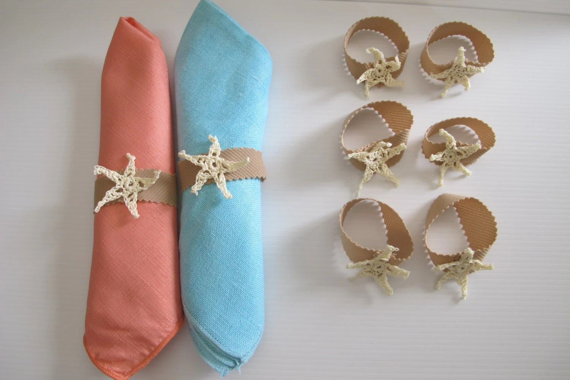 Beach Themed Napkin Rings