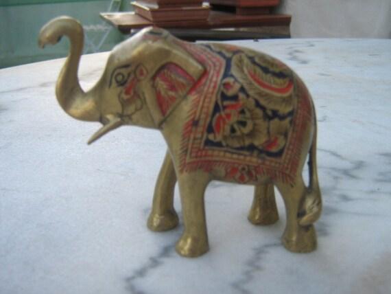 Marble Elephant Figurines